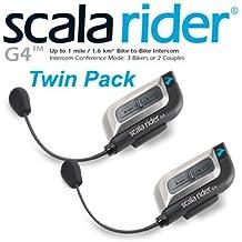 Cardo Scala Rider G4Powerset Bluetooth para Casco de motocicleta