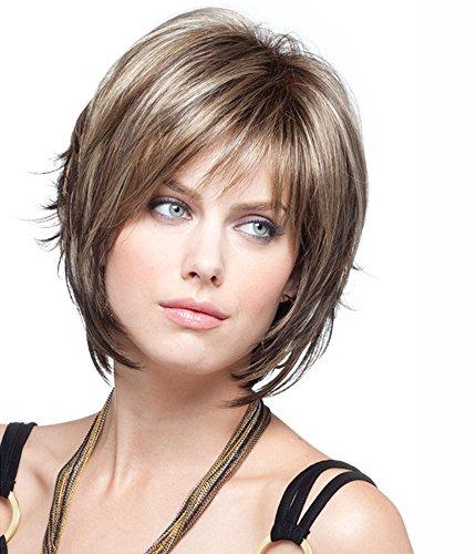 Perücke Fashion Welle Perücken Faser Glamourös Für Frauen Dating Haarteil Kostenlosen Perücke (Pflege Synthetische Perücke)