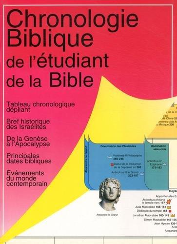 Chronologie Biblique de l'Etudiant par David F Payne