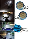 #6: 2X 9 LED Motorcycle Mirror Mount Driving Fog Spot light & switch