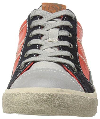 Diesel - D-string Low, Sneaker Uomo Arancione/Blu