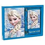 rainbowFUN.de Disney Frozen - Set Cadeaux, 3 Pièces, Bleu, 24 cm X 18 cm X 2 cm, la Reine de Glace