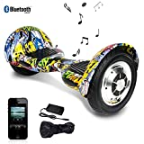 Markboard 10 Pouces Hoverboard Bluetooth, Gyropode Scooter Électrique Auto-équilibrage (Hip)