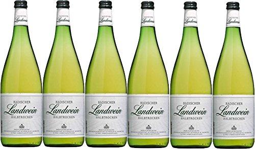 Winzergenossenschaft Jechtingen-Amoltern Badischer Landwein weiß halbtrocken (6 x 1,0L)