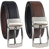 #10: Kesari's Reversible Black & Brown Pu Leather(Leather like strength )Single Casual and Formal Belt for Men and Boys (One Year Guarantee)-best for gifting-(Pack of one belt)