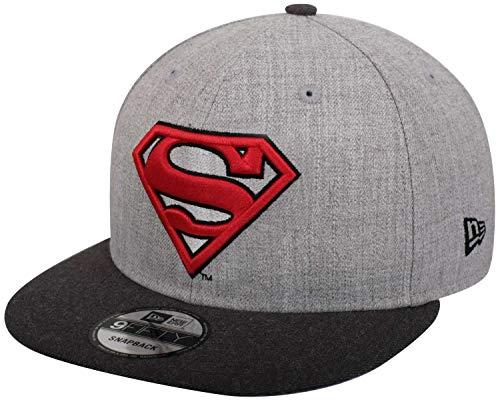 New Era Superman 9fifty Snapback Cap Comic Graphite Heather Graphite - One-Size