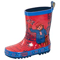 Paddington Bear Kids Rubber Wellington Boots Boys Girls Snow Rain Shoes Wellies