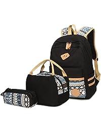 3bcb40df319c8 Neuleben Schulrucksack + Kühltasche + Mäppchen Schultaschen 3 Set aus Canvas  für Jungen Mädchen in der