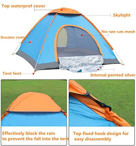 OneMtoss 2-3 Person C&ing Dome Tent Waterproof Backpacking Tent for Sports Outdoor C&ing Hiking  sc 1 st  UK Sports Outdoors C&ing Hiking Jogging Gym fitness wear Yoga & OneMtoss 2-3 Person Camping Dome Tent Waterproof Backpacking Tent ...