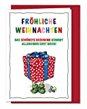 XL Karte Weihnachtsüberraschung Baby, Weihnachtskarte zum Baby ankündigen, Schwangerschaft verkünden, Karte mit dem SCHÖNSTEN Geschenk des Jahres - inklusive Umschlag (DIN A5)