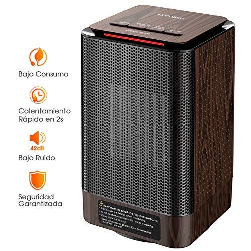 Homasy Calefactor Electrico Bajo Consumo, Calefactor Ceramico PTC 950W de Aire Caliente...