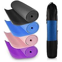 Colchonetas de espuma antideslizantes de 6mm de grosor para yoga, gimnasio, fitness, pilates, fisioterapia, camping, azul, 3 mm