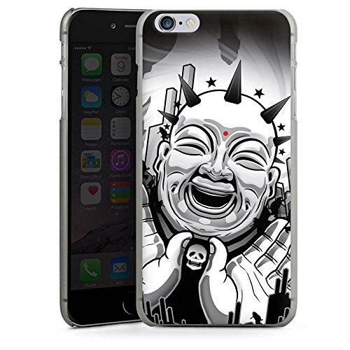 Apple iPhone X Silikon Hülle Case Schutzhülle Buddha Schwarz Weiß Kunst Hard Case anthrazit-klar
