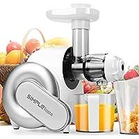 SimpleTaste Elektrischer Entsafter und Mixer für Obst und Gemüse (Weiß)