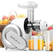 SimpleTaste extractor de zumo eléctrico, licuadora, exprimidor de frutas y verduras (blanco)