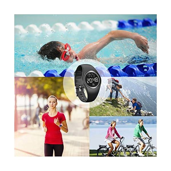 RCruning-EU Pulsera Actividad Impermeable IP68 Fitness Smartwatch Tracker Contador de Pasos, Contador de Calorías… 7