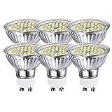 GVOREE GU10 Led Lampe 5w Kaltweiss,ersetzt 50W Halogenlampe,6000K 120° Abstrahwinkel 420 Lumen LED Birne Deckenlampen,Nicht Dimmbar,6er Pack (5W Kaltweiss)