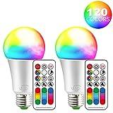 iLC LED E27 Farbwechsel Lampe RGB Birne 10W Warmweiß Fernbedienung