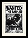 1art1 101917 Batman - Arkham Origins, Wanted Gerahmtes Poster Für Fans und Sammler 40 x 30 cm