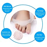Ball of Foot Cushion Breathable Gel Metatarsal Pad&High Heels Stickers Silicone Gel Shoe Pads for Men/Women 10Pcs (White)
