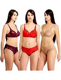 af7f9e909f Fashion Comfortz Women s Girls Lace Katty Lycra Spandex (4WAY) Bikini Set  for Women