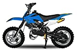 Dirtbike Apollo 49cc E-Start Minibike Racing Pocket Crossbike Kinderbike (Blau)
