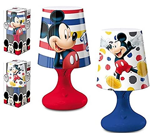 Mickey Mickey Mouse Lampe Nachttischlampe Nachtlicht LED weiß + 3Farben Kinder (Mickey Mouse Lampe)