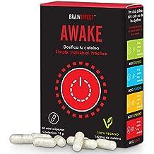 BRAINEFFECT AWAKE | Hasta 160mg cafeína por porción | 80 cápsulas | Con L-Teanina