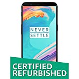 (Certified Refurbished) OnePlus 5T (Midnight Black, 128GB)