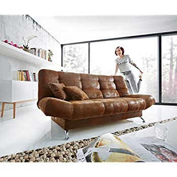 bettsofa viol braun 191x91 cm mit bettkasten. Black Bedroom Furniture Sets. Home Design Ideas