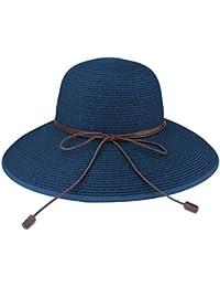Sombrero de disquete Summer Beach Sombreros de paja de Sun Sombrero de  protección anti-UV 7dbe939d513