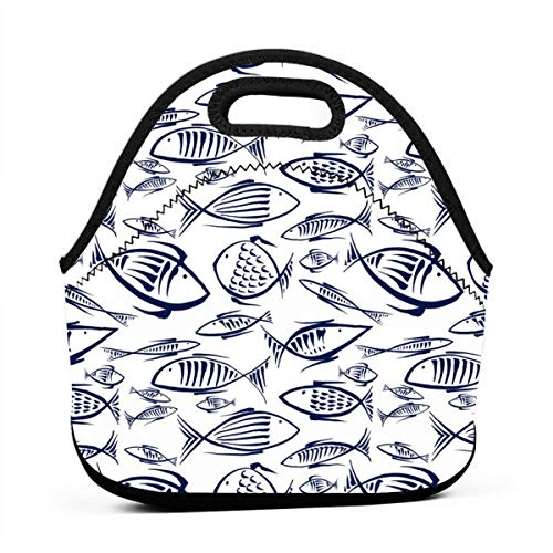 Tra i pesci 50_8239 Bento Bag portatile multifunzionale, borsa da pranzo per ufficio di lavoro