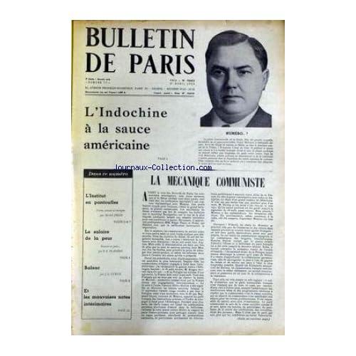 BULLETIN DE PARIS [No 77] du 01/04/1955 - L'INDOCHINE A LA SAUCE AMERICAINE - GEORJI MALENKOV - LA MECANIQUE COMMUNISTE - MICHEL DEON - LE SALAIRE DE LA PEUR - FLANDIN - BALZAC - J.L. CURTIS.