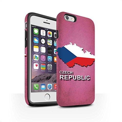 STUFF4 Matte Harten Stoßfest Hülle / Case für Apple iPhone 7 / Kroatien/Kroatische Muster / Flagge Land Kollektion Tschechische