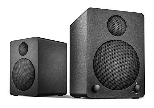 Wavemaster Cube mini Regal-Lautsprecher-System (36 Watt) mit Bluetooth-Streaming Aktiv-Boxen Nutzung für TV/Smartphone/Tablet schwarz (66340) (Wireless-lautsprecher Cube Bluetooth)