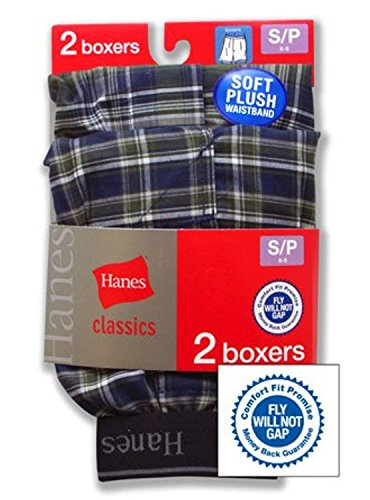 Hanes Big Boys' Hanes Big Boys' Exposed Waistband Yarn-Dye Boxer,Multi,XL (18/20) (Knit Briefs Boxer Boys)