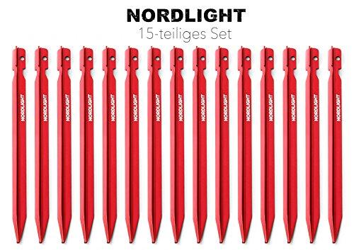 Nordlight Zeltheringe mit Y-Form 18 cm für Sand und Weiche Untergründe 18 cm mit verbesserter Sichtbarkeit