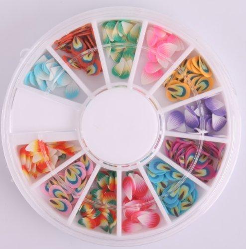 Nails Gaga 2 Wheel 3d Nail Art Tips /feather Fimo Nail decorations by Nails gaga