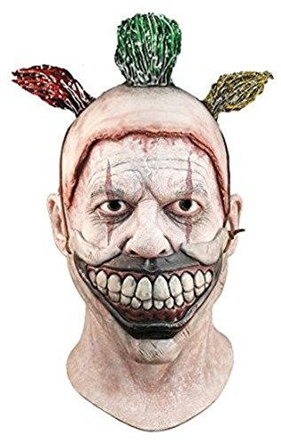 y Scary Creepy Freak Show TV FX Twisty De Clown Mask ()