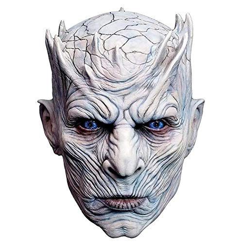 (Xiton 1pc Halloween Night King Ghost Maske Männer Creepy halloweenmaske Halloween Movie Party White Walker Maske Kostüm Cosplay)