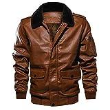 fuhuaxi Herren Walker Jacke mit Lätzchen Parker Coat Klassischer PEA Coat Teddy