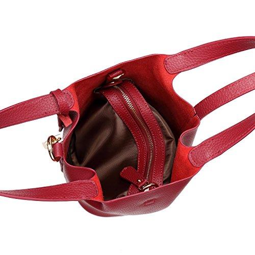 Stylla London , Damen Rucksackhandtasche rot rot