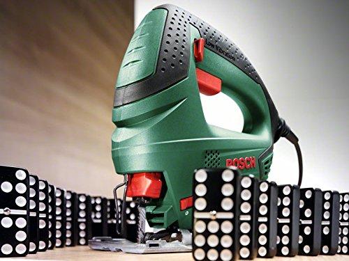 Bosch Sierra de Calar PST 650  1 hoja de sierra T 144 para madera  maletín (500 W  profundidad de corte en madera 65 mm  profundidad de corte en acero 4 mm)