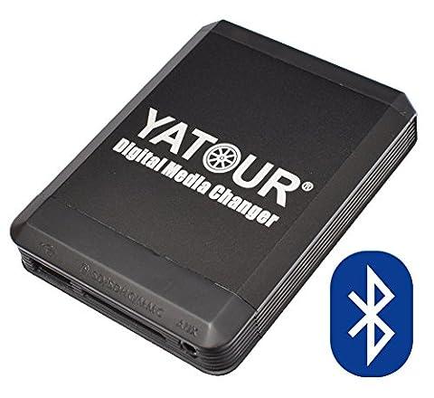 USB SD iPhone iPod iPad AUX MP3 Adapter + Bluetooth Freisprechanlage für BMW Rundpinanschluss, auch Old Generation: E46 alle (außer 16:9 Navi und Reverse Radios), Z3 ab 98, E39 97-08/02 (außer DSP, Reverse und 16:9 Navi), E38 09/98-01 (außer DSP und 16:9 Navi), MINI R50 R53 nur Wave