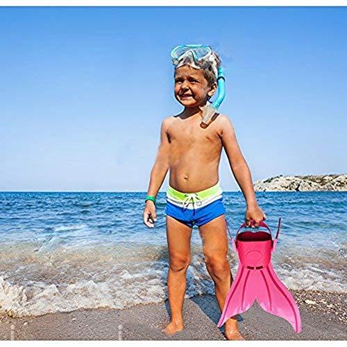 Meerjungfrau Flossen Monofin Taucherflossen für Kinderschwimmen Schwimm Flossen