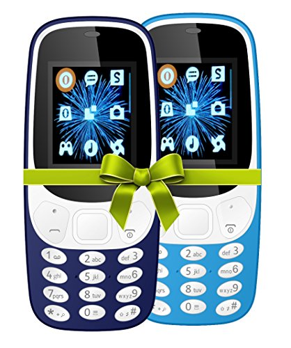 I KALL 4.57 cm (1.8 Inch) Mobile Phone Combo - K3310 (Dark and sky blue) With feature of currency detector and Battery saving option