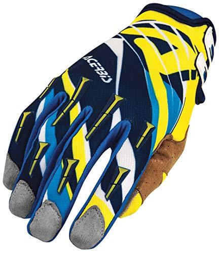 0021631.248.062 Guanti moto Acerbis MX2 blu/giallo Taglia S