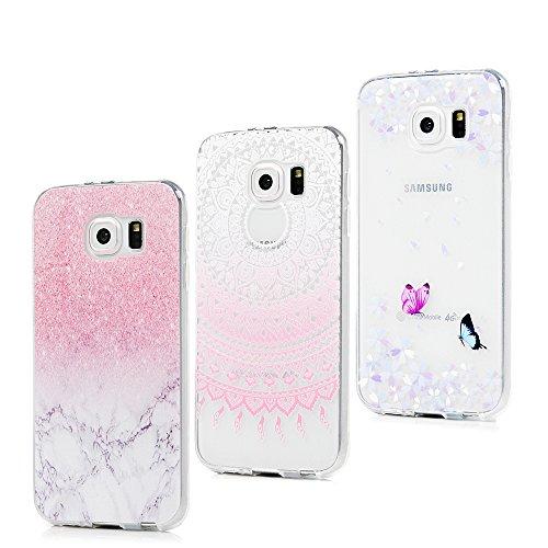 3x Funda para Samsung Galaxy S6, Carcasa Silicona Gel Case Ultra Delgado...