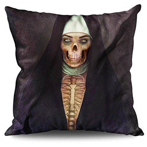 Zombi Religión Horror De miedo Cara Leinen Kissen 55cm x 55cm| Wellcoda