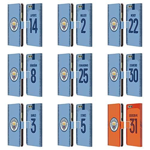 Officiel Manchester City Man City FC 2018/19 Joueurs Kit Domestique Groupe 2 Étui Coque De Livre en Cuir pour Huawei Téléphones